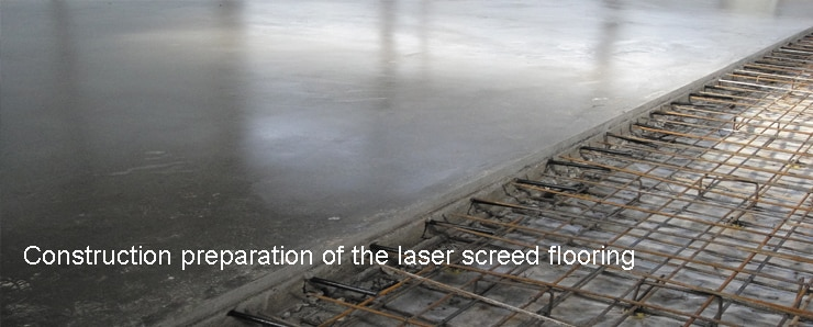 Construction preparation of the laser screed flooring