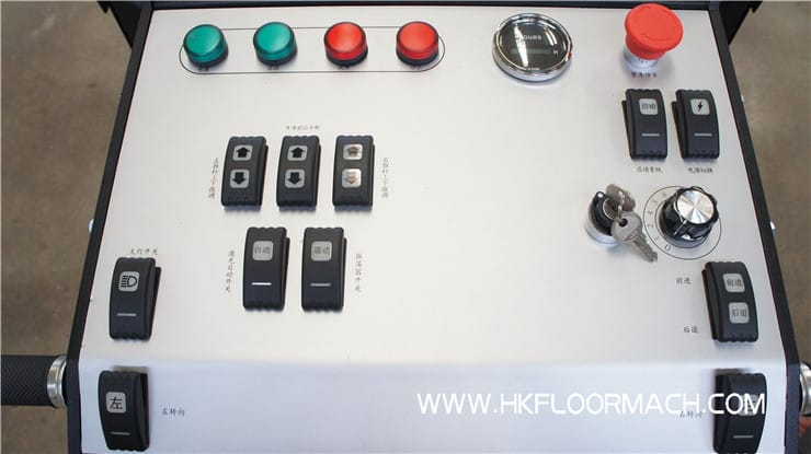 The control panel of ev850-2 laser screed