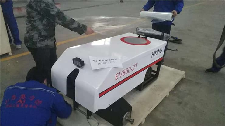 Laser screed machine recently sent to Romania