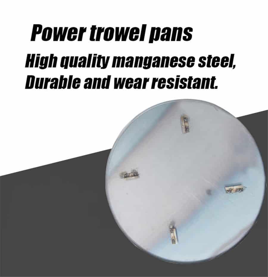 power trowel machine pans